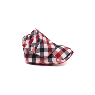 Ayden Booties Blue Red Checkered