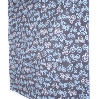 Minky Baby Blanket- Grey Bicycles