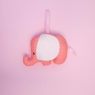 Rattle Pink Elephant Plush Toy