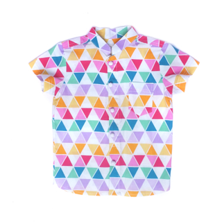 Fun Triangles Mandarin shirt