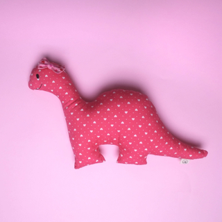 Little Miss Pink Rattle Dino Plush Toy