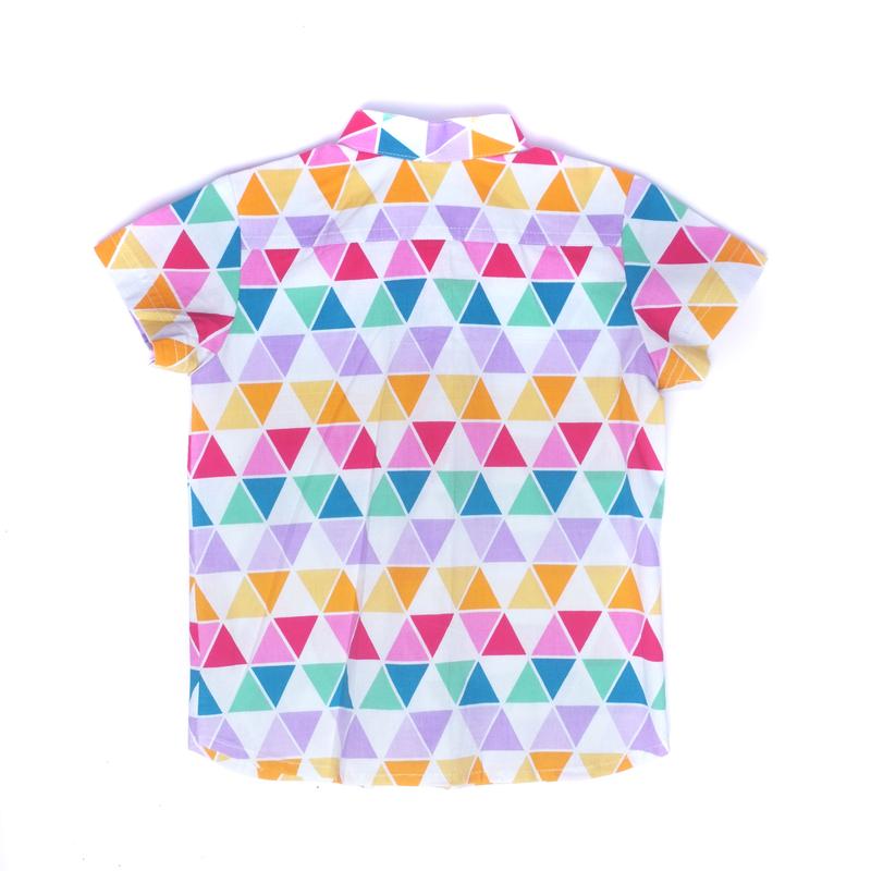 Fun Triangles Mandarin shirt