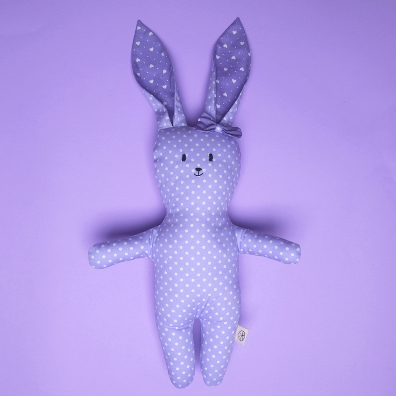 Miss Violet Bunny Rattle Plush Toy