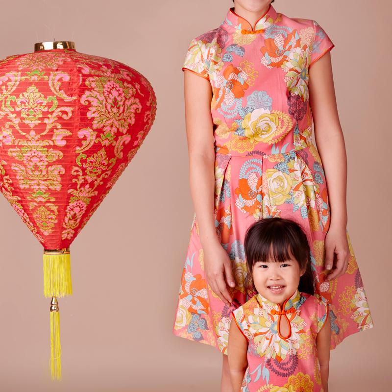 Exclusive Oriental Orange Mommy Cheongsam