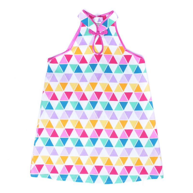 Modern dolly  Cheongsam - Fun Triangles