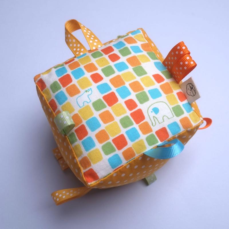 Rattle Cube Sensory Toy- Safari Giraffe