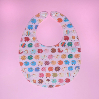Bib- Cute little baa baa Pink Bib