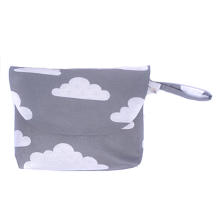 Grey Clouds Diaper Wallet