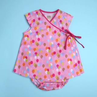 Baby Kimono- Balloon Polkadot