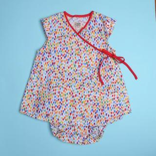 Baby Kimono- Raindrop Red