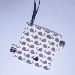 Rattle Hankie Sensory Toy- Prince Grey Whaley