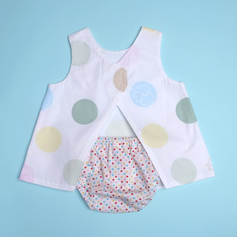 Rach's Reversible - Playful Elephant With Bloomers