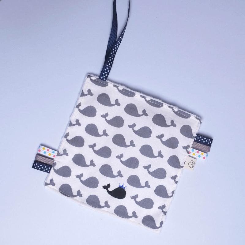 Rattle Hankie Sensory Toy- Prince Grey Whaley