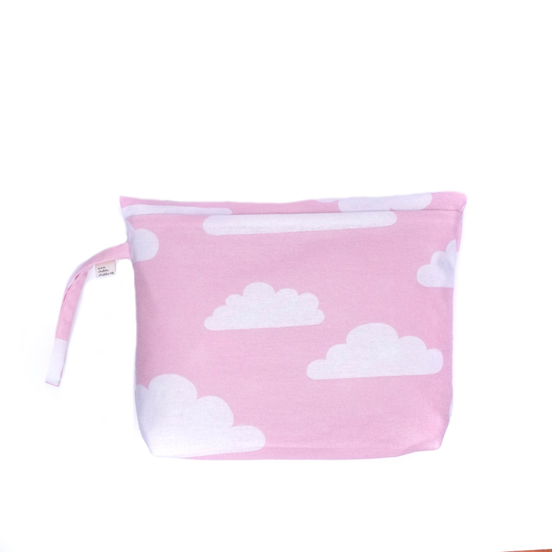 Pink Clouds Diaper Wallet