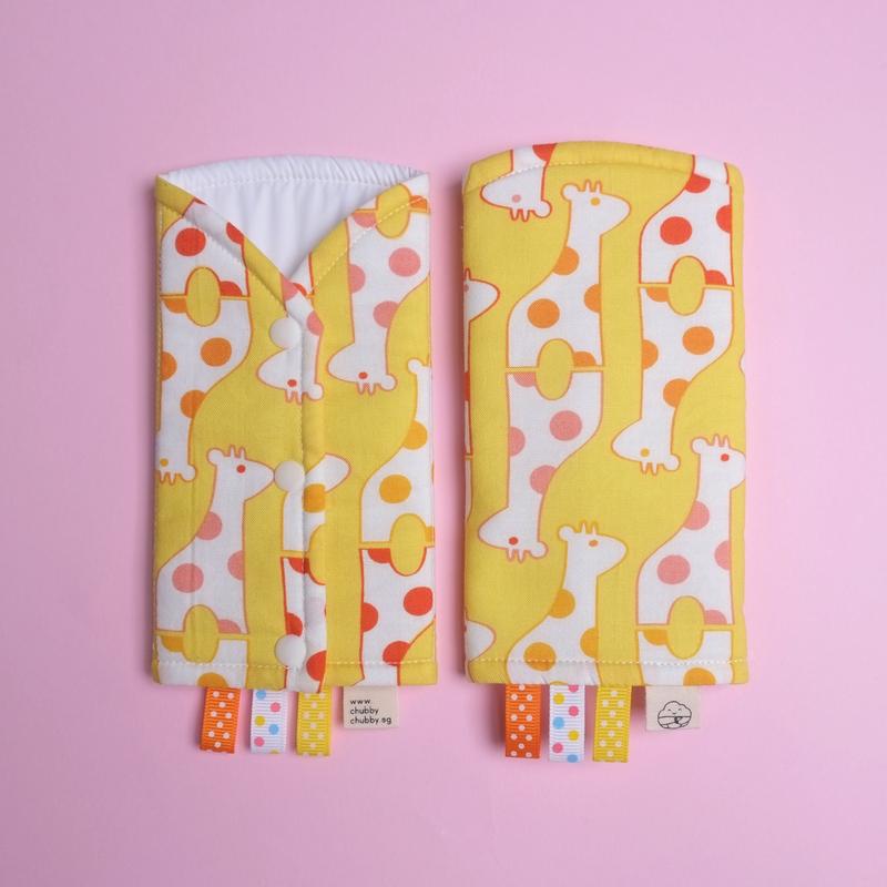 Sunshine Giraffe Drool Pads