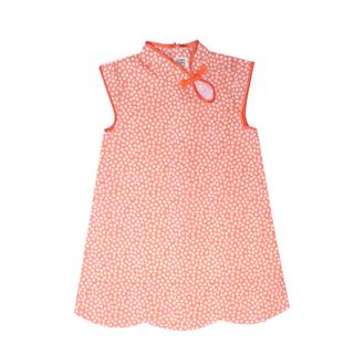 New Oriental Cheongsam - Petite Fleur Orange