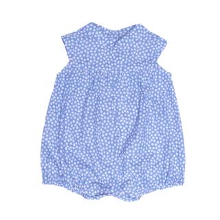 Baby Girl Romper- Petite Fleur Blue