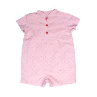 Baby Boy Romper- Red Polkadot