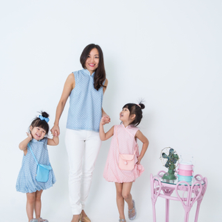 Mommy's Bubble Top- Baby Blue