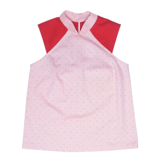 Mommy's Raglan Top- Red Polkadot