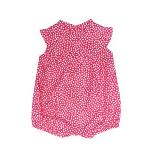 Baby Girl Romper- Petite Fleur Red