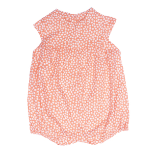 Baby Girl Romper- Petite Fleur  Orange