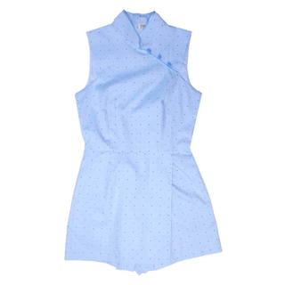 Mommy's One-piece Jumpsuit - Blue Polkadot