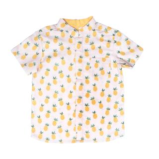 Pineapples! Mandarin Shirt