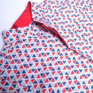 Festive Triangles Mandarin Shirt