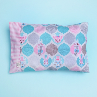 Anti-flat head pillow Whimsical Bambi Teal
