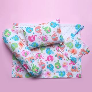 Colorful Elephant Stroller Blanket Gift Set
