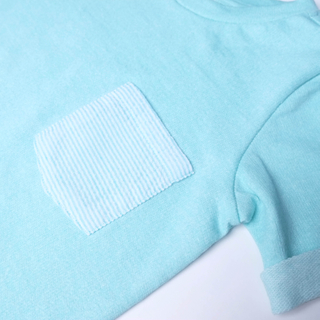 Summer Stripe Tee-Teal