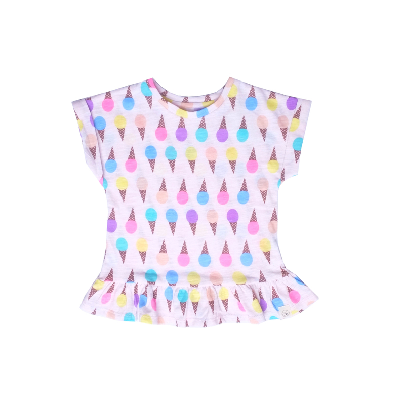 Icecream Fun Top -Pink