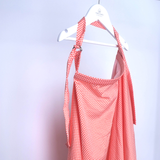 Nursing Cover- Orange Hexagons