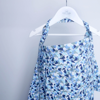 Nursing Cover- Funky Blue