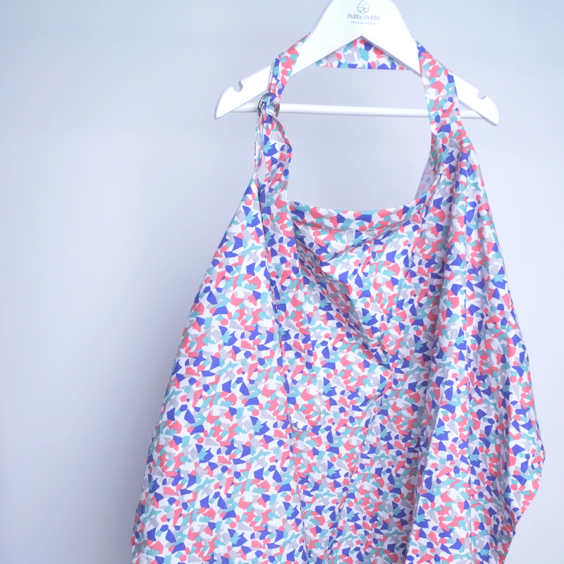 Nursing Cover- Funky Coral