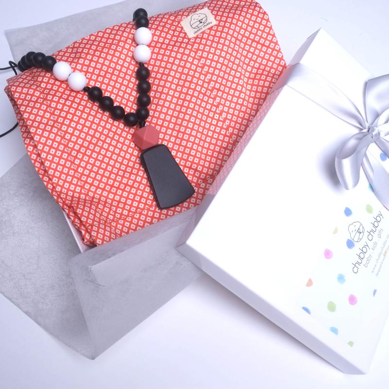 Nursing Cover- Orange Hexagons