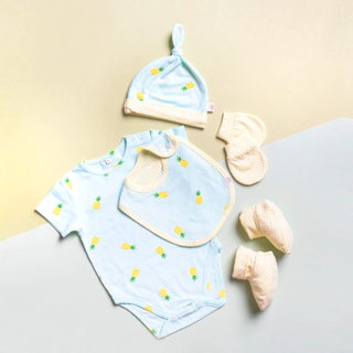 Baby Layette- Mint Pineapples