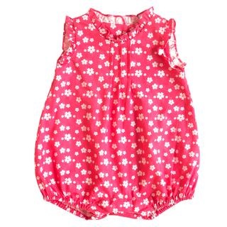 Baby Girl's Ruffles Romper - Rose Pink Sakura