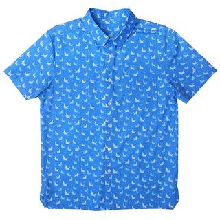 Daddy's Hexa Shirt - Blue Papercranes
