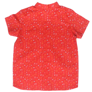 Boy's Mandarin Shirt - Zesty Oranges