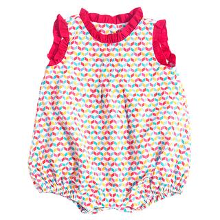 Baby Girl's Ruffles Romper - Rainbow Chevy