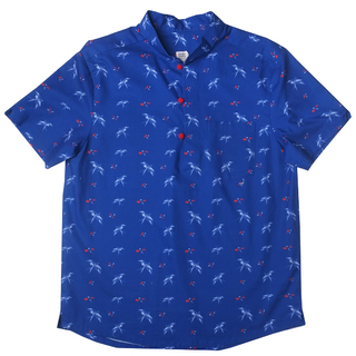 Daddy's V-Cut Sleeve Shirt - Navy Red Swallows