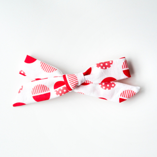 BowtifulJoy x Chubby Chubby Bows- Red Orange Circles