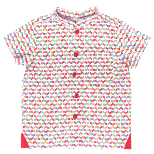 Boy's Tri-Tip Shirt - Rainbow Chevy