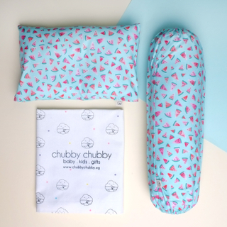 Two is better than one bundle- Pillow & Bolster Teal Watermelons