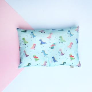 Anti-flat head pillow Playful Dino Mint