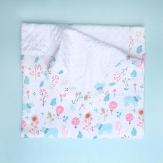 Minky Baby Blanket- Mint Forest Bears