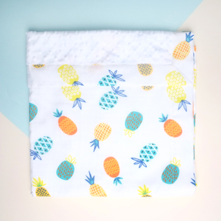 Minky Baby Blanket- Pineapples Summer Fun
