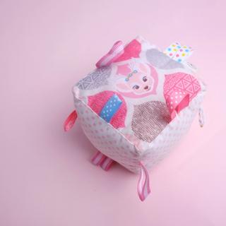 Rattle Cube Sensory Toy- Whimsical Bambi